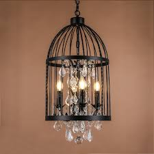Vintage Wrought Iron Chandeliers Aliexpress Buy Retro Vintage Black Rust Wrought Iron Cage Part 2