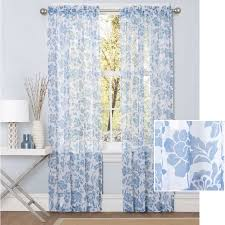 Walmart Sheer Curtain Panels Better Homes And Gardens Flower Garden Sheer Curtain Panel