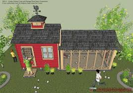 home garden plans cb211 combo chicken coop garden shed plans