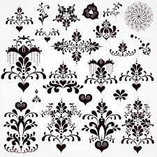black seamless lace and ornaments vector 02 vector frames