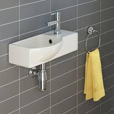 Small Basins For Bathrooms - ibathuk modern ceramic small cloakroom basin white wall hung