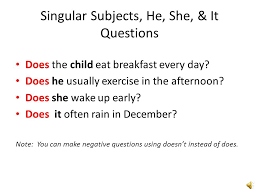 present simple verb tense verbs other than be making questions