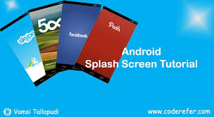 android studio dashboard tutorial android splash screen exle using android studio