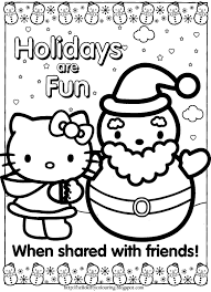 hello kitty holiday coloring pages u2013 color bros