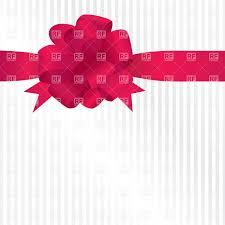 satin ribbon bows satin ribbon bow on striped background vector image 21732