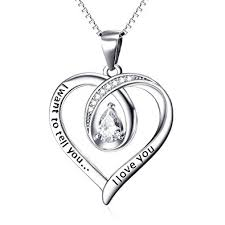 engraved pendants yfn s925 sterling silver i want to tell you i you