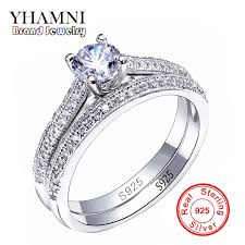 diamond rings aliexpress images Sona cz diamant engagement rings set 925 sterling silver rings for jpg
