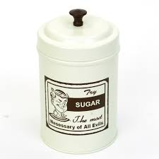 matt white archie print tea coffee sugar canister set kitchen