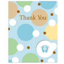 thank you card for baby shower gifts zone romande decoration
