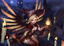 overwatch halloween mercy overwatch mercy witch halloween gameplaying