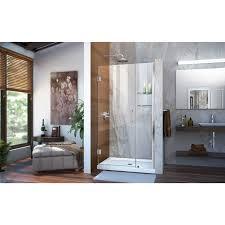 40 Shower Door Dreamline Unidoor 40 X 72 Hinged Frameless Shower Door With