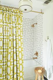 White And Yellow Shower Curtain Bathroom With Yellow Shower Curtain Contemporary Bathroom