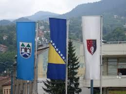 Flag Of Bosnia Sarajevo Town Sarajevo Canton Bosnia And Herzegovina