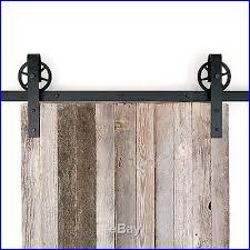 Barn Door Closet Hardware European Industrial Black Spoked Sliding Barn Door Closet Hardware Set