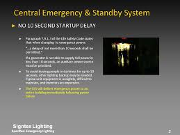 unit equipment emergency lighting the first central emergency standby lighting system combining