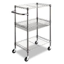 amazon com alera 3 tier wire rolling cart 3 tier wire rolling