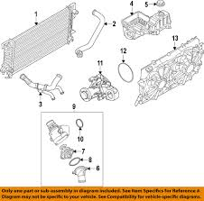 Ford Explorer Water Pump - ford oem engine thermostat housing seal gasket 7t4z 8590 a factory