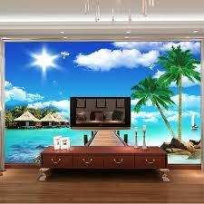 Aliexpresscom  Buy Ocean Scenery Coconut Photo Wallpaper D - Kids room wall murals