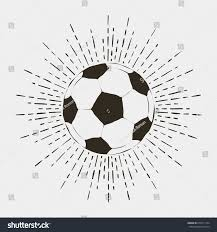 soccer football ball print vintage typography stock vector