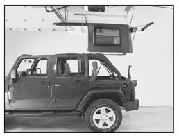 jeep wrangler storage how to install a harken hoister garage storage 4 point lift system
