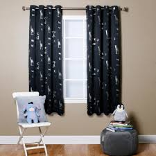 Navy Blue Blackout Curtains Sky Blue Animal Foil Printed Thermal Insulated Blackout Curtains Pair