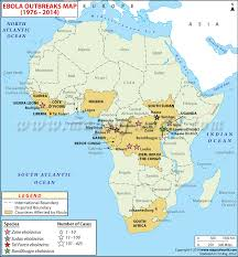 west africa map ebola map showing countries affected by ebola virus from 1976 to 2014