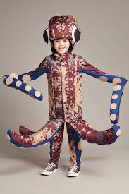 Halloween Octopus Costume Giant Red Octopus Costume Kids Chasing Fireflies
