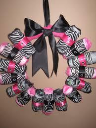 diaper wreath this is cute florist pinterest zebra baby