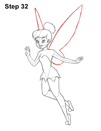 draw tinker bell body