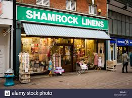 shamrock linens store in devizes uk stock photo royalty free