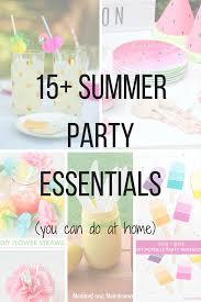 15 summer party essentials diy decor ideas natural cosmetics