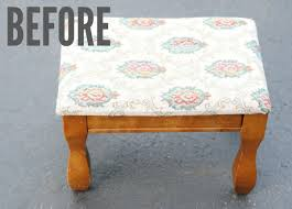 Diy Reupholster Ottoman by How To Reupholster An Ottoman With Faux Fur Making Lemonade