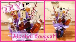 diy alcohol bouquet alcohol bottle arrangement gift idea