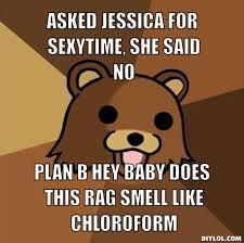Sexy Time Meme - pedobear meme generator asked jessica for sexytime she said no