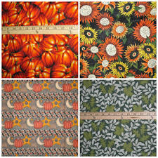 thanksgiving material pumpkin patch sunflower cornucopia fall autumn thanksgiving fabric