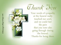 Sympathy Flowers Message - funeral thank you notes 365greetings com