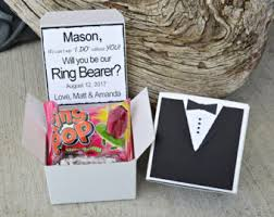 Ring Pop Boxes Will You Be My Ring Bearer Ring Pop Bow Tie Box Invite Time