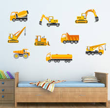 the grafix studio 03 kids diggers tractors wall sticker 03 kids diggers tractors wall sticker