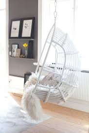 Indoor Hammock Chair White Hanging Chair For Bedroom
