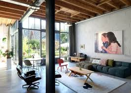 Modern Loft Furniture by Industrial And Mid Century Modern Loft In An Old Barn Digsdigs