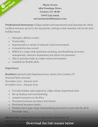 Retail Job Resume by Retail Resume Resume For Your Job Application