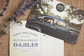 postcard wedding invitations janna brian s vintage inspired wedding stationery