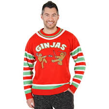 christmas sweaters fighting ginjas gingerbread ninjas christmas sweater