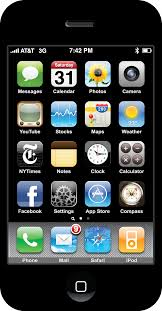 high resolution vector iphone screen by applefriend