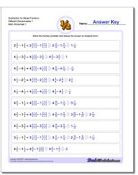 adding mixed fractions with unlike denominators