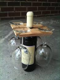 a wine bottle and glass holder dump a day