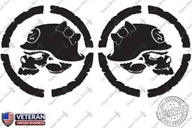 jeep decal with bow 2 metal mulisha skulls bow vinyl decals 22