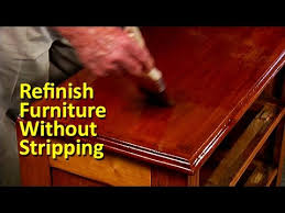 refinish furniture without stripping youtube