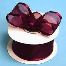 ribbon with wire 1 5 organza ribbon with wire edge eggplant 10 yard efavormart