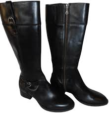 womens boots size 11 leather ariat black waverly leather zipper boots booties
